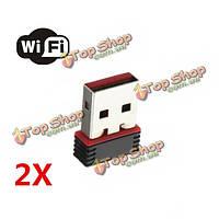 2Xмини 150мbps USB-адаптер Wi-Fi адаптер беспроводной локальной сети карты 802.11 N/G/б