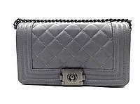 Женская сумка-клатч Vera Pelle (6402 grey) leather