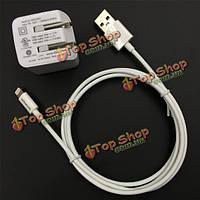 Yellowknife US 2USB порты путешествовать стены адаптер зарядное устройство и MFI Lightning зарядное устройство кабель для iPhone iPad iPod