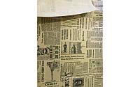 "Бумага для упаковки цветов и подарков ""Газета The Times"" черная на крафте"