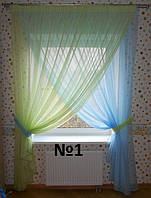 Шифоновые шторы для детской