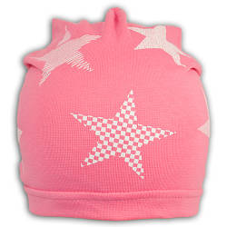 Шапочка трикотажная со звездами для девочки