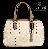 Стильная бежевая женская сумка