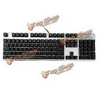 Элитный 6 синий переключатель LED с подсветкой полный ключ № перфоратор механическая клавиатура-черный D11 daosol