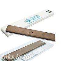 Эльборовый брусок 3/2 для точилок типа Apex 150х25х5мм на органической связке, на бланке