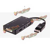 D42 4в1  DisplayPort к VGA/Aduio/HDMI/DVI кабель адаптера для планшетный телефон