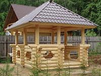 Садовые беседки из дерева