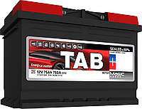 Аккумулятор TAB Magic 75Ah/ пусковой ток 750A, гарантия 36 месяцев
