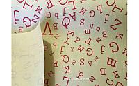 """Бумага упаковочная для цветов и подарков """" Буквы красные на крафте"""""""
