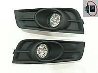 Противотуманные фары Chevrolet Cruze 2009- решетка (комплект - 2шт) /LED