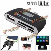 OTG микро разъем USB 2.0 адаптер для чтения USB SD TF карты для мобильного телефона планшет