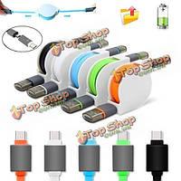 1м USB 3.1 Type-C мужчины к USB 2.0 мужчина/Micro-USB кабель зарядного устройства случайная пересылка