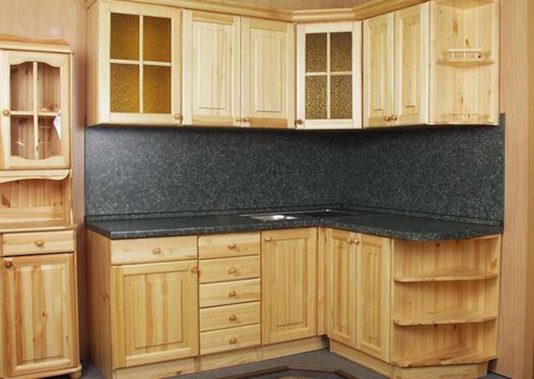 Кухня из массива дерева 008