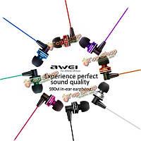 AWEI ES-90Вi в ухе микрофон проводной 3.5мм регулятор громкости наушников для Гнездо iPhone 6с устройств Apple