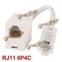 Телефон RJ11 6P4C самка к локальным сетям RJ45 8p4c мужской адаптер конвертер
