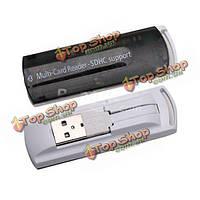 По USB 2.0 все в 1 устройство считывания нескольких карт памяти SDHC мс/памяти SD/ТС