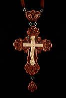 Крест наперсный наградной №2 (красное дерево)
