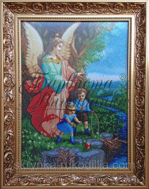 Вишивка бісером ікона Ангел-охоронець 37х50 см  продажа c4ddf0bb6c276