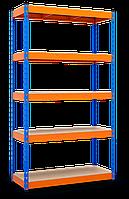 Стеллаж полочный МКП МКП2 на зацепах (2160х1200х500) Крашенный