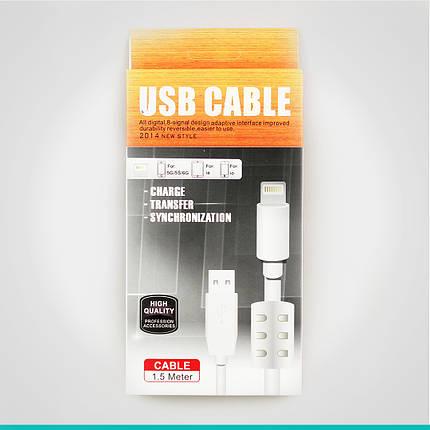 USB кабель 1,5 м. толстый 5 lightning, фото 2