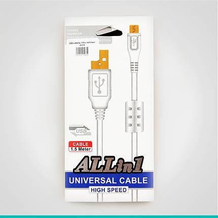 USB кабель 1,5 м. толстый micro, фото 2