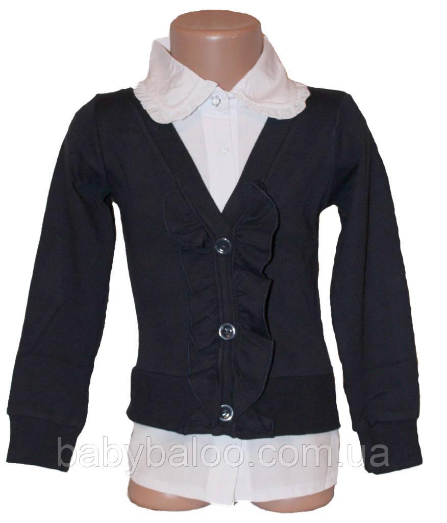 Рубашка-обманка для девочки (от 6 до 12 лет)