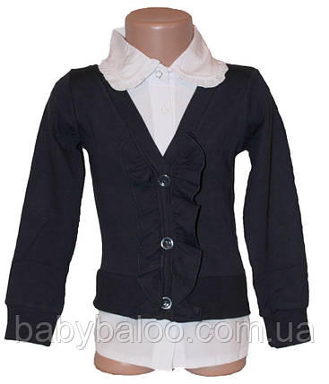 Рубашка-обманка для девочки (от 6 до 12 лет) , фото 2