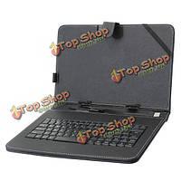 10.1-дюймов французский клавишный случай из искусственной кожи покрывает стендом для планшет
