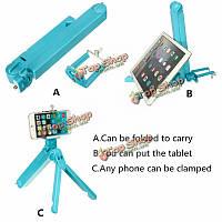 3в1 многофункциональный складной складной держатель для штатива селфи палки для iPhone Самсунга iPad
