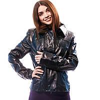 Куртка женская лак черная