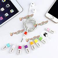 Творческая случае защиты линии для наборов защиты iPhone наушники наушники хранения линия