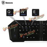 Baseus Mini портативный беспроводной Bluetooth  клавиатура складной для iPhone iPad планшет samsung мобильный телефон