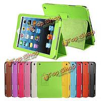 Услуга Sleep Litchi Grain PU кожа стенд чехол для iPad mini