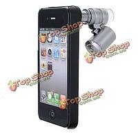 60X зум LED лупа лупа оптическая Mini микроскоп объектив для iPhone 4