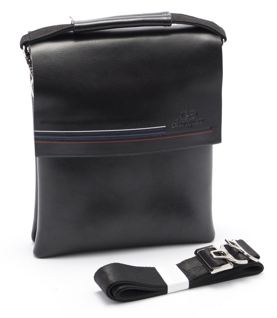 Аккуратная мужская черная сумка LANGSA art. 9955-3