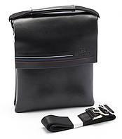 Аккуратная мужская черная сумка LANGSA art. 9955-3, фото 1