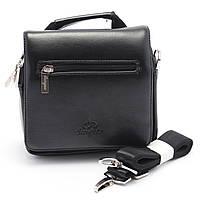 Маленькая мужская черная сумка LANGSA art. 037