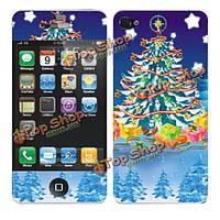 Сочельник Рождество дерево защитная пленка для iPhone 4 и 4S