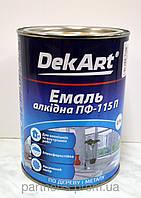 """Эмаль алкидна ПФ-115П коричневая  ТМ """"DekArt"""" - 0,9 кг."""