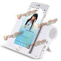 Мини-динамик беспроводной портативный Bluetooth двойной канал сабвуфера мобильный телефон держатель стенты