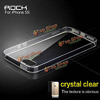 ROCK Ультра тонкий мягкий гель TPU Original прозрачный Crystal Clear кремний чехол для iPhone 5 5s в 4-дюйма