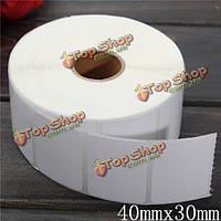 1400шт 40мм х 30мм белая бумага с покрытием штрих-код этикетки самоклеящиеся стикеры