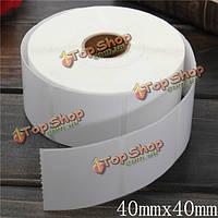 1100шт 40мм х 40мм белый с покрытием бар бумаги код этикетки клей наклейки