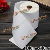 550шт 100мм х 80мм белая бумага с покрытием штрих-код этикетки самоклеящиеся стикеры