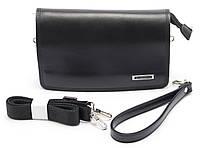 Стильная черная мужская сумка-барсетка LANGSA art. 1605-2, фото 1