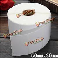 1400шт 50мм x30мм белая бумага с покрытием штрих-код этикетки самоклеящиеся стикеры