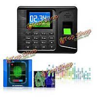 Realand а-е260 2.8-дюйма USB ЖК-биометрических отпечатков пальцев посещаемости машины