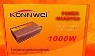 Инвертор 1000W Автомобильный 12V 220V, преобразователь напряжения, инверторы, автомобильные преобразователи