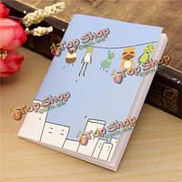 Мини-мультфильм портативный ноутбук удобный карманный блокнот дневник журнал бумага