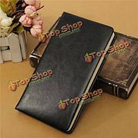 Пу кожаный блокнота дневник простой классический бизнес-писчей бумаги